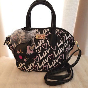 Luv Betsey Johnson Unicorn Charm Satchel